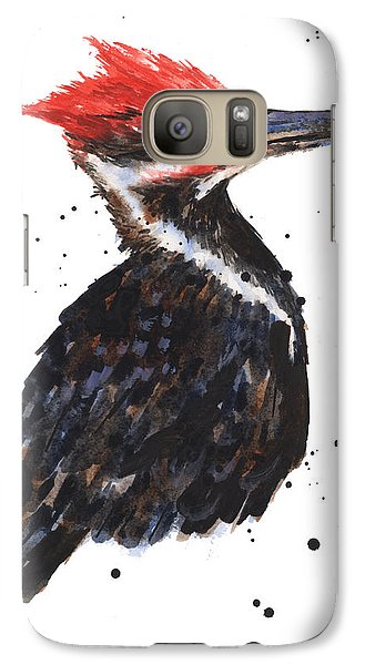 Pileated Woodpecker Watercolor Galaxy S7 Case by Alison Fennell