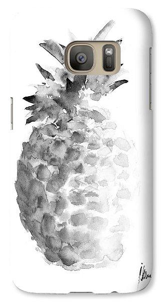 Pineapple Painting Watercolor Art Print Galaxy S7 Case by Joanna Szmerdt