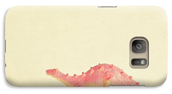 Pink Dinosaur Galaxy S7 Case by Cassia Beck