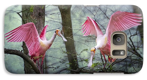 Pink Wings In The Swamp Galaxy S7 Case by Bonnie Barry
