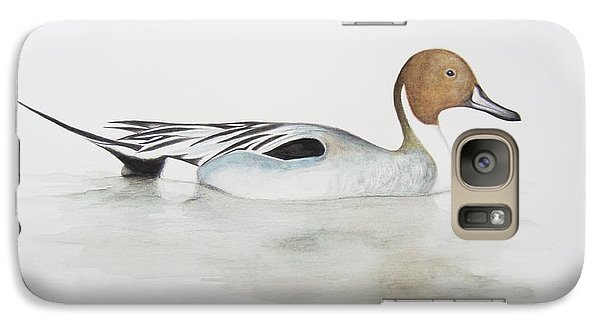 Pintail Duck Galaxy Case by Ele Grafton