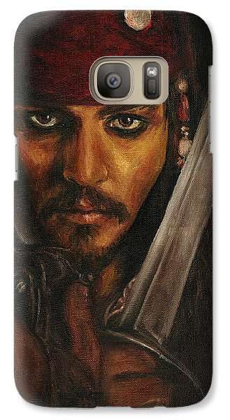 Pirates- Captain Jack Sparrow Galaxy Case by Lina Zolotushko