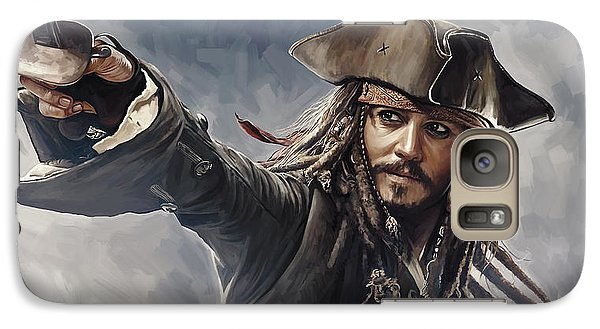 Pirates Of The Caribbean Johnny Depp Artwork 2 Galaxy Case by Sheraz A