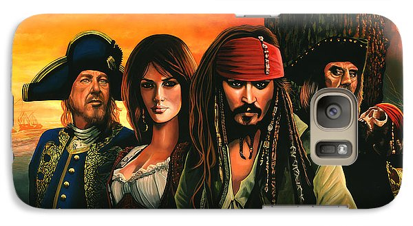 Pirates Of The Caribbean  Galaxy Case by Paul Meijering