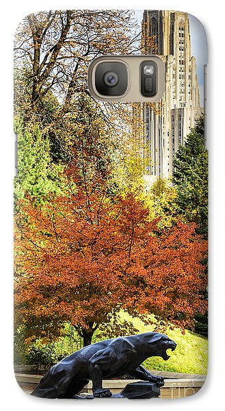 Pitt Panther And Cathedral Of Learning Galaxy S7 Case by Thomas R Fletcher