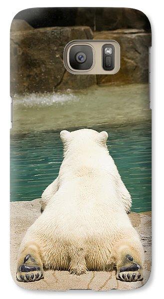 Playful Polar Bear Galaxy S7 Case by Adam Romanowicz