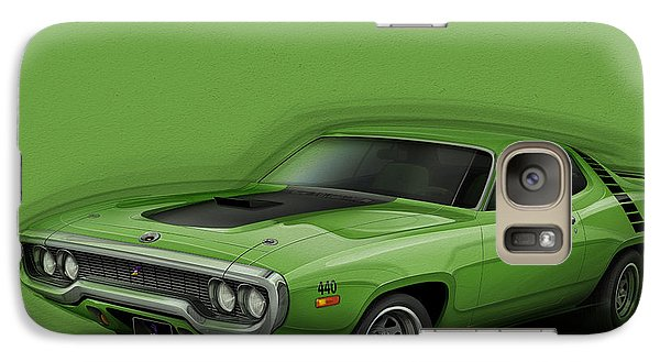 Plymouth Roadrunner 1972 Galaxy S7 Case by Etienne Carignan