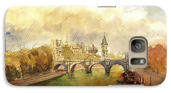 Ponte Neuf Paris Galaxy Case by Juan  Bosco