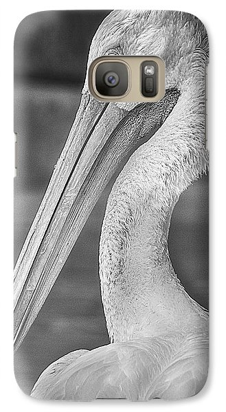 Portrait Of A Pelican Galaxy S7 Case by Jon Woodhams