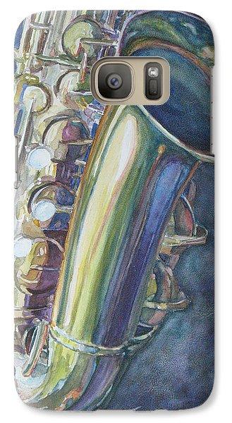 Portrait Of A Sax Galaxy S7 Case by Jenny Armitage