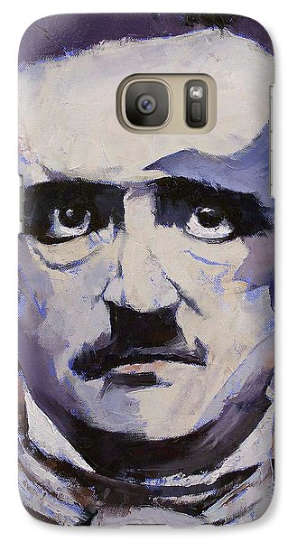 Edgar Allan Poe Galaxy Case by Michael Creese
