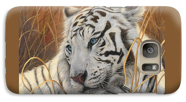 Portrait White Tiger 1 Galaxy S7 Case by Lucie Bilodeau
