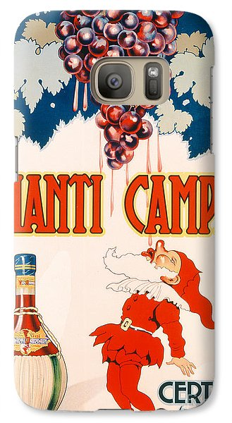 Poster Advertising Chianti Campani Galaxy S7 Case by Necchi