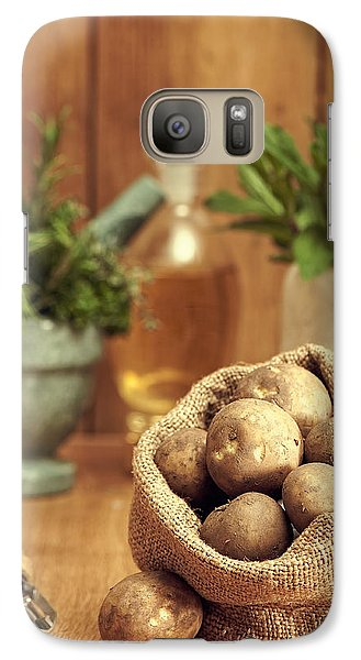 Potatoes Galaxy Case by Amanda Elwell