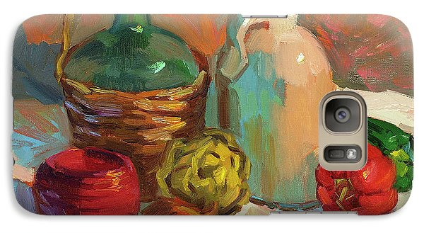 Pottery And Vegetables Galaxy Case by Diane McClary