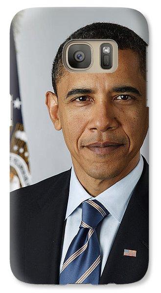 President Barack Obama Galaxy S7 Case by Pete Souza