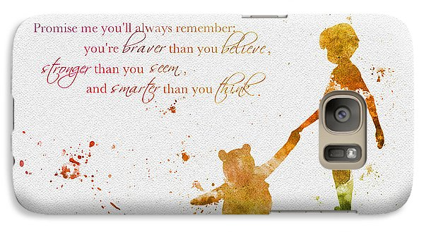 Promise Me You'll Always Remember Galaxy Case by Rebecca Jenkins