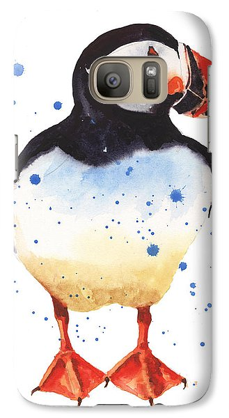 Puffin Watercolor Galaxy S7 Case by Alison Fennell