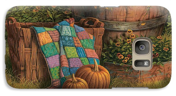 Pumpkins And Patches Galaxy Case by Michael Humphries