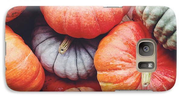 Pumpkins Galore Galaxy Case by Kim Fearheiley
