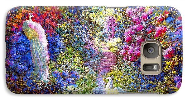 White Peacocks, Pure Bliss Galaxy S7 Case by Jane Small