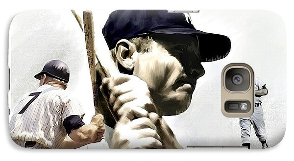 Quality Of Greatness Mickey Mantle Galaxy Case by Iconic Images Art Gallery David Pucciarelli