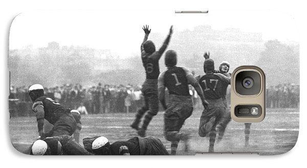 Quarterback Throwing Football Galaxy Case by Underwood Archives