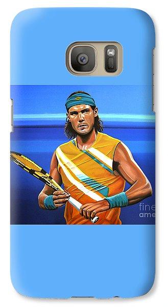 Rafael Nadal Galaxy Case by Paul Meijering
