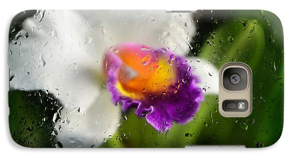 Rainy Day Orchid - Botanical Art By Sharon Cummings Galaxy S7 Case by Sharon Cummings