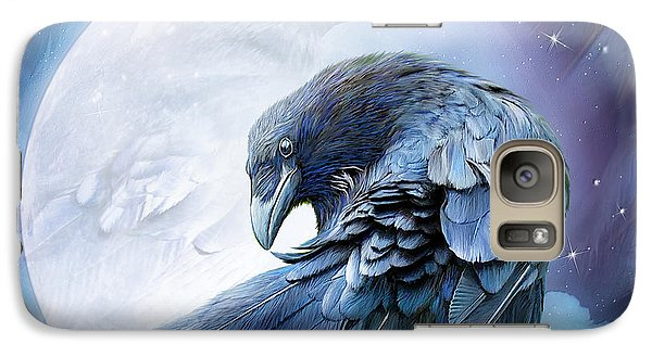 Raven Moon Galaxy Case by Carol Cavalaris
