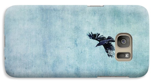Ravens Flight Galaxy Case by Priska Wettstein