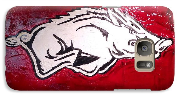 Razorback Painting Art Galaxy S7 Case by Dawn Bearden