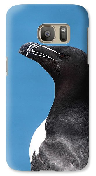 Razorbill Profile Galaxy Case by Bruce J Robinson