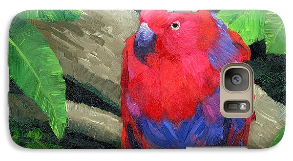 Red Bird Galaxy Case by Alice Leggett