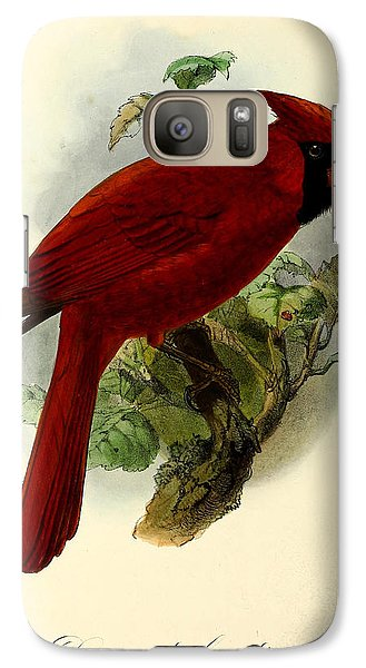 Red Cardinal Galaxy S7 Case by J G Keulemans
