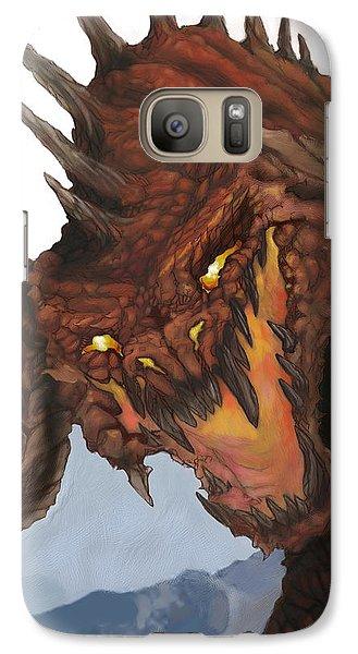 Red Dragon Galaxy S7 Case by Matt Kedzierski