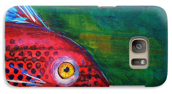 Red Fish Galaxy Case by Nancy Merkle