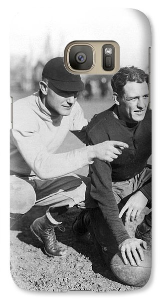Red Grange And His Coach Galaxy Case by Underwood Archives