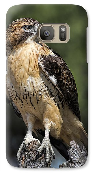 Red Tailed Hawk Galaxy Case by Dale Kincaid