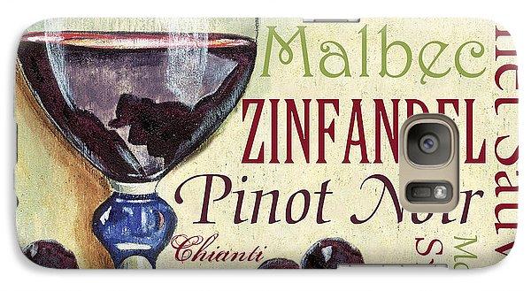 Red Wine Text Galaxy Case by Debbie DeWitt