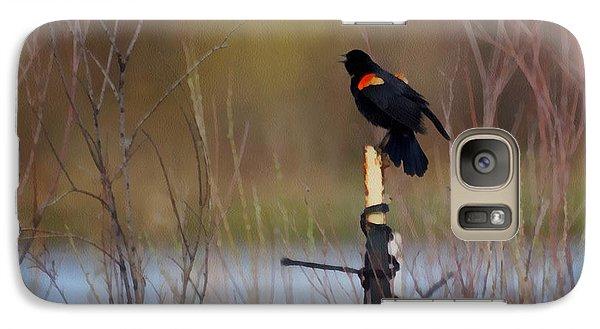 Red Winged Blackbird 2 Galaxy S7 Case by Ernie Echols