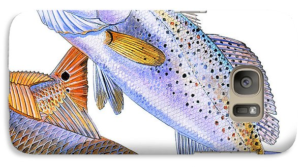 Redfish Trout Galaxy Case by Carey Chen