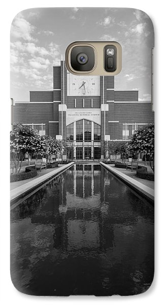 Reflecting Pond Outside Of Oklahoma Memorial Stadium Galaxy Case by Nathan Hillis