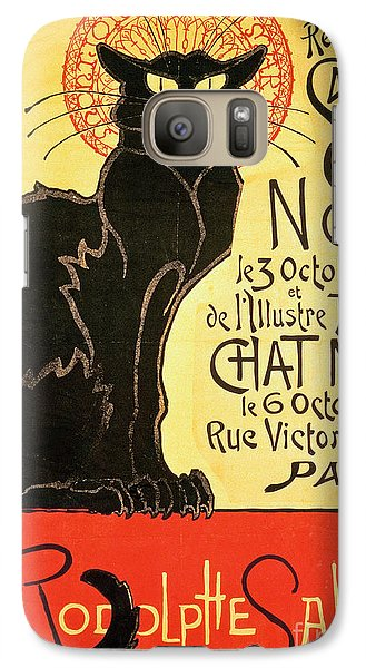 Reopening Of The Chat Noir Cabaret Galaxy S7 Case by Theophile Alexandre Steinlen