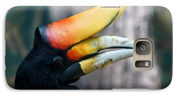 Rhinoceros Hornbill  Galaxy S7 Case by Ernie Echols