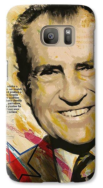 Richard Nixon Galaxy S7 Case by Corporate Art Task Force