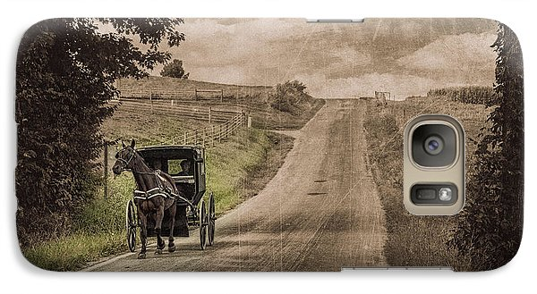 Riding Down A Country Road Galaxy Case by Tom Mc Nemar