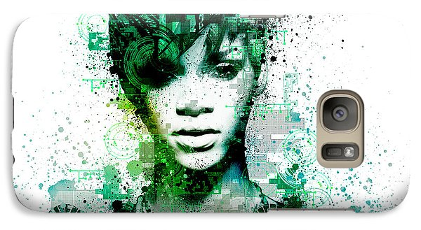Rihanna 5 Galaxy Case by Bekim Art
