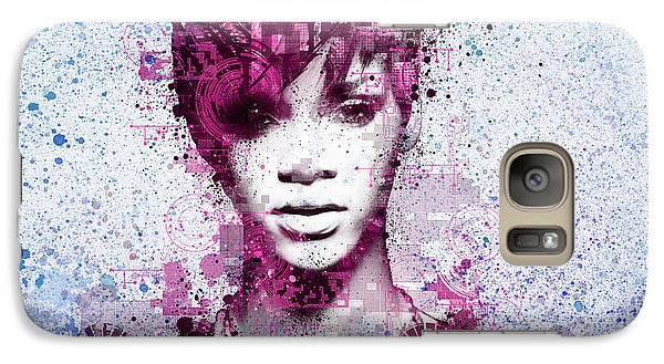 Rihanna 8 Galaxy Case by Bekim Art