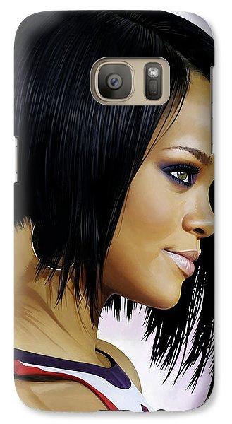 Rihanna Artwork Galaxy S7 Case by Sheraz A